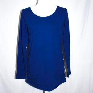 BumpStart Blue Long Sleeve Maternity Shirt Medium